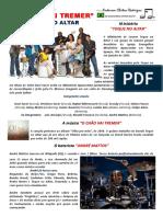 Partitura Gospel Bateria Toque No Altar o Chao Vai Tremer Portal Daniel Batera Drum Sheet Score