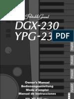 DGX 230_YPG 235 Owner's Manual