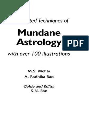 203155191 Book Mundane Astrology K N Rao | Hindu Astrology | Astrology