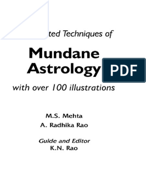 203155191 Book Mundane Astrology K N Rao | Hindu Astrology