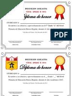 Diplomas de Honor