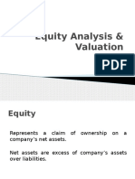 Equity Analysis & Valuation