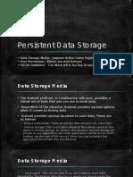 Persistent Data Storage