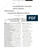Factores Psicosociales Laborales Relacionados Con La Tensión Arterial y Síntomas Cardiovasculares en Personal de Enfermería en México
