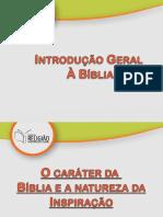 A natureza da Bíblia e o caráter da Inspiração