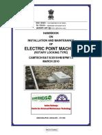 Handbook on Installation & Maintenance of Electric Point Machine