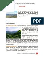 La Geomorfologia Como Ciencia de La Geografia