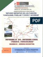 Puente Yunculmas - Memoria Descriptiva