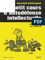 Petit Cours d'Autodefense Intellectuelle - Normand Baillargeon