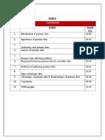 Primary Data INDEX