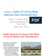 Health Risks of Living Near Natural Gas Development