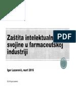 Zaštita intelektualne svojine u farmaceutskoj industriji