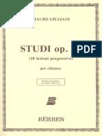 18 Studi Progressivi Op 51 Mauro Giuliani