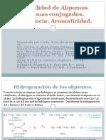 Conjugación Resonancia Aromaticidad QO1D2K14