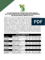 ACTA DE TOTALIZACIÓN ADJUDICACION Y PROCLAMACION JUNTA DIRECTIVA CMVEA 26 ABRIL 2010