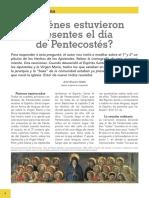 Quienes Estaban en Pentecostes