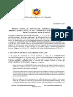 Misiva Cautelar CIC-MC007-2016 a favor de estudiantes UNIMINUTO Bogotá