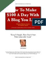 100 a Day Blogging (4th Edition)