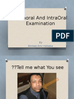 Extraoral and Intraoral Examination