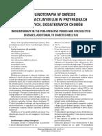 [MM2016-1-101] Insulinoterapia w okresie okołooperacyjnym lub w przypadkach wybranych, dodatkowych chorób