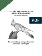 Manual Para Criação de Calopsitas Mansas