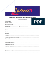 Ficha de Inscripción Facilitadores de Estrategias Lúdicas 2016
