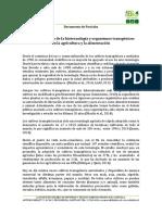 Chile Posición Frente Biotecnología