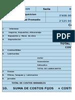 Calculo de Costo de Posesion y Operacion de La Motoniveladora 24M