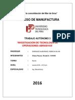 Infome de Manufactura
