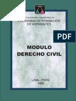 Módulo Derecho Civil - 1999, 609p