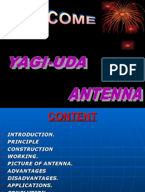 Yagi Uda Antenna | Broadcast Engineering | Antenna (Radio)