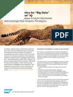 Advanced Analytics for Big Data With SAP Sybase IQ