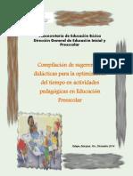 Copilacion de Sugerencias Didacticas Para La Optimizacion Del Tiempo en Actividades Pdagogicas en Preescolar