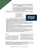 A Perspectiva Da Educao Ambiental e o Processo Histrico Do Saneamento Bsico