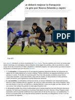 Lanacion.com.Ar-Cuatro Aspectos Que Deberá Mejorar La Franquicia Argentina de Cara a La Gira Por Nueva Zelanda y Japó