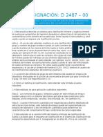 ASTM Designación D 2487 – 00