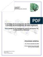 Programa General Jornadas de Investigación Una