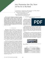 Interferometric Penetration Into Dry Snow and Sea Ice at Ka-band