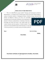 NALCO Project Report Training & Development