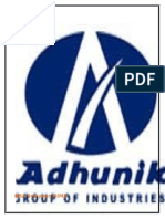 Adhunik Metaliks Limited Project Report