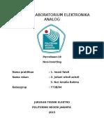 Laporan Laboratorium Elektronika Analog 18