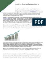 La fórmula de comercio no direccional y otros tipos de comercio