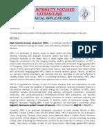 HIFU From HAIFU Clinical Application