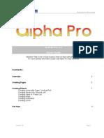 Alpha Pro Quick Guide En