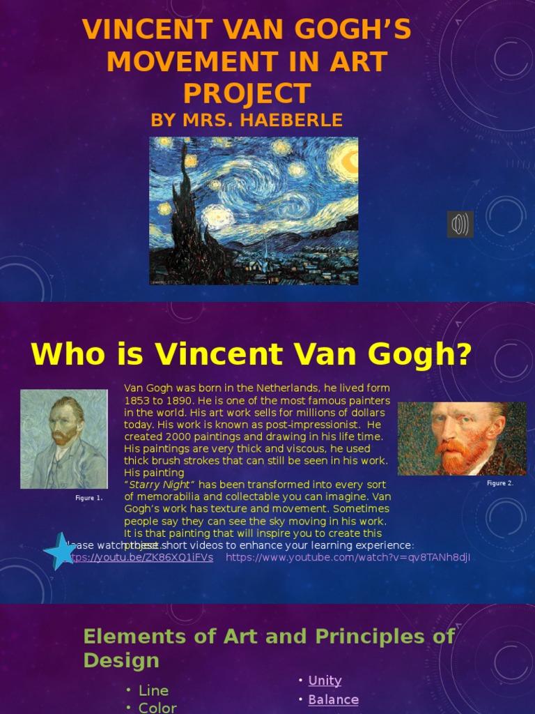 vincent van gogh art movement