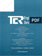 TCR Material Testing Price List India