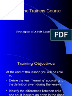 the principals of adult learning