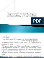 Steganography  For Data Reading And Information Hiding in Compressed Video