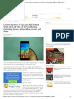 Lenovo K3 Note_ 6 Tips and Tricks