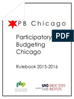 Participatory Budgeting Chicago 2015-16 Rulebook